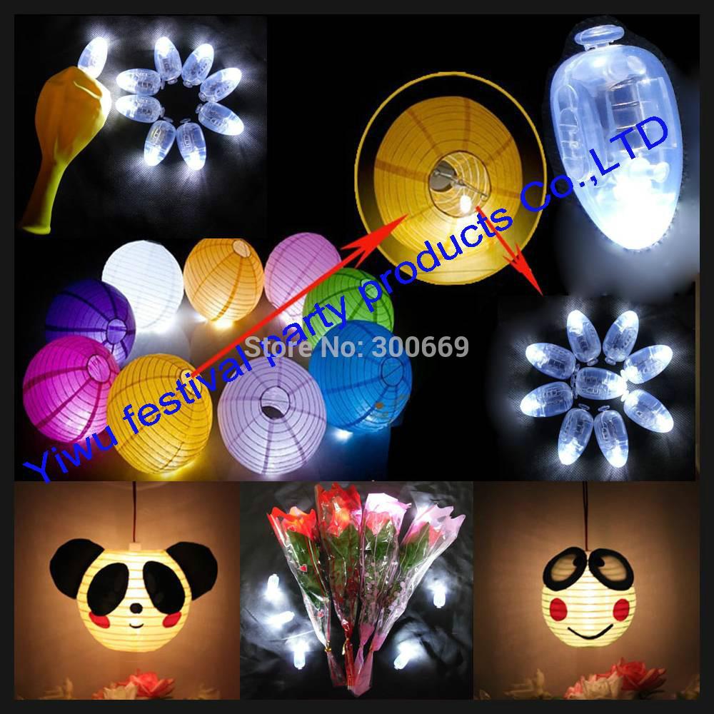 Free shipping,50pcs/lot WHITE LED balloon Lamp,LED Ball Light for Paper Lantern Balloon,LED Party Decoration Light(China (Mainland))