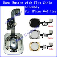 """10Pcs Original OEM Home Menu Button Keypad Flex Cable Assembly Replacement Repair Parts for iPhone 6 4.7"""" 6 Plus 5.5"""" Wholesale"""