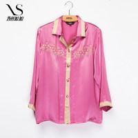 2014 new winter lady silk pajamas on mulberry silk pajamas Home Furnishing clothing suits