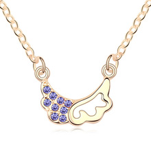 T100614 AAA Grade Crystal necklace – Trainee Cupid ( Tanzanite Purple + champagne ) over $15 mixed order free shipping