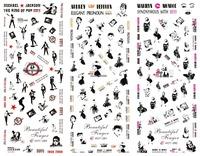 24 Designs Pop Art Print HOT Series Water Transfer Nail Art Sticker Decal  HOT271-294