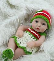 Mini Reborn Doll 11inch lifelike Full  vinyl  small sweet baby girl doll Fashion Kids Gift