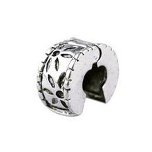 Free Shipping 1pc Jewelry 925 Silver Bead Charm European Flower Stopper Bead Fit pandora Snake Chain bracelets & bangles H1002