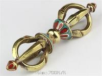 TBC978  Tibetan brass vajra droje,Buddhist handicrafts,110mm,Decos arts,low MOQ
