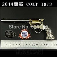 Free shipping 1:2.05 16cm long Alloy can't shoot COLT 1873 gun,Military Model, Military Souvenir gift,Man's gun model toy