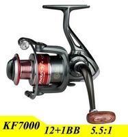 2015 New 13BB Gapless Fishing Reel 7000 Series Spinning Wheel For Shimano Fishing Carretilha Pesca Free Shipping