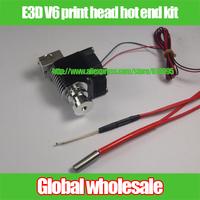 1kit 3D printer Reprap E3D V6 all-metal proximity print head hot end kit / E3D hot end set for 1.75 / 3mm filament