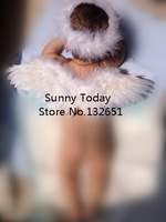 Wholesale 10 PCS Baby White Feather Angel Wings With A Head Ring Kids Cosplay & Photography Props Party Decoration 40* 12 CM
