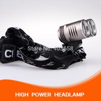 3000 Lumen 2*CREE XM-L T6 Care HeadLight LED HeadLamp
