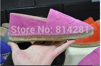 Women 2015 high quality demin hemp loafers Espadrilles shoes suede leather espadrilles sneakers women drving shoes 8 colors