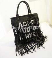 New spring 2015 bags in Europe and the tassel letters, printed bucket bag, single shoulder his female bag, big bag