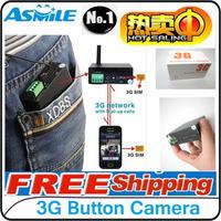 Swiss Free Shipping 3G (WCDMA) button camera surveillance remote video camera,3g camera,hidden ,3g video camera
