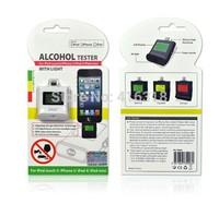 2015 hot sale New High quality Digital LCD Breath Alcohol Tester for iPhone 6 4.7 iPad4 iPad mini breathalyzer Free Shipping