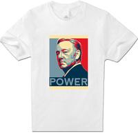 Tees Men Clothing T-Shirts House of Cards T Shirt Men Women Unisex Cotton short Sleeve White XXL Top Francis Underwood T Shirt