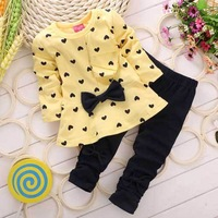 2015 Children Clothing Sets New Arrival Girls Outfits Kids Conjuntos Infantis Baby Girl Set Geometric Long Sleeve Sports Suit