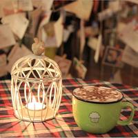 Romantic Elegance Classical Metal Birdcage Iron Candle Holders Zakka Storm Lantern Wedding Home Decoration A410