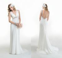 Robe De Mariage Sexy Backless Wedding Dresses Beading Custom Made Cheap Beach Bridal Gowns Vestido De Novia Prices In Euros 2015