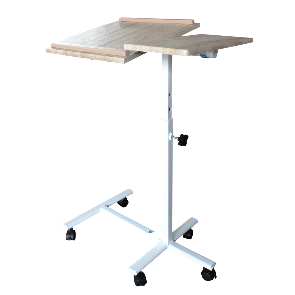 2015 Ikea Foldable laptop desk with Wheels office Removable notebook table Laptop and Reading Stand Table home furniture(China (Mainland))