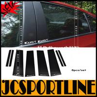 8pcs/set  ABS Car window B Pillar rear column Sticker for chevrolet(fit cruze 2009-2014)