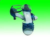 Hot Sale Women's Classic Tango Ballroom Latin Dance Shoes Girls Dancing Salsa Tango bule color Dance Shoes,zapatos de baile