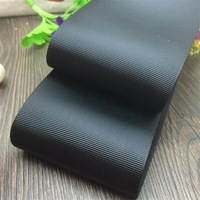 Free shipping 3'' width (75mm) Black solid color QUALITY Polyester Grosgrain Ribbon DIY hairbows accessory gift package
