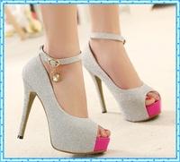 womens sandals summer shoes 2015 sexy peep toe high heels women party dress shoes pumps wedding heels women open toe pumps C902