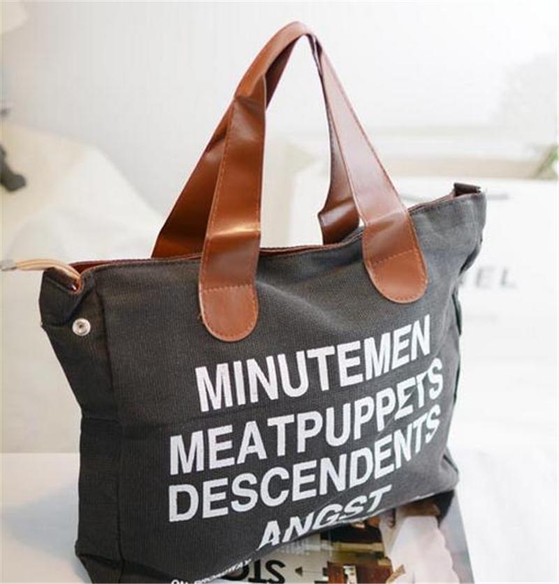 Anglais femmes sac fourre - tout sac à bandoulière sac à main toile ...