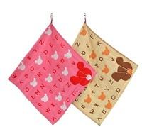 High quality Pure cotton soft children towel Cute Cartoon Little bear The letter  Hand Towel   DM