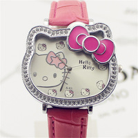 Child cartoon watch hellokitty cat student table female child girl watches birthday gift