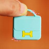 1/6 Scale Dollhouse Miniature light blue TOy Accessories Lady Handbag Bag