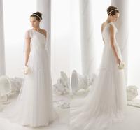 Vestido De Novia One Shoulder Cheap Wedding Dresses Prices In Euros Custom Made Cheap Bridal Gowns On Stock 2015