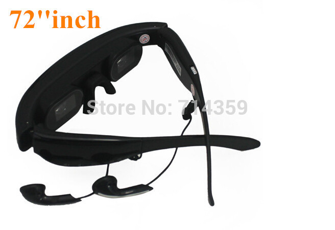 Wireless Video Glasses Mobile Theater with 72inch 16:9 Wide Screen Bulit-in 4GB Memory, VG320A(China (Mainland))