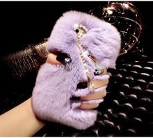Geniue rex rabbit fur Luxury Sexy Bling case for iphone 6 4 7 Plus iphone6 new