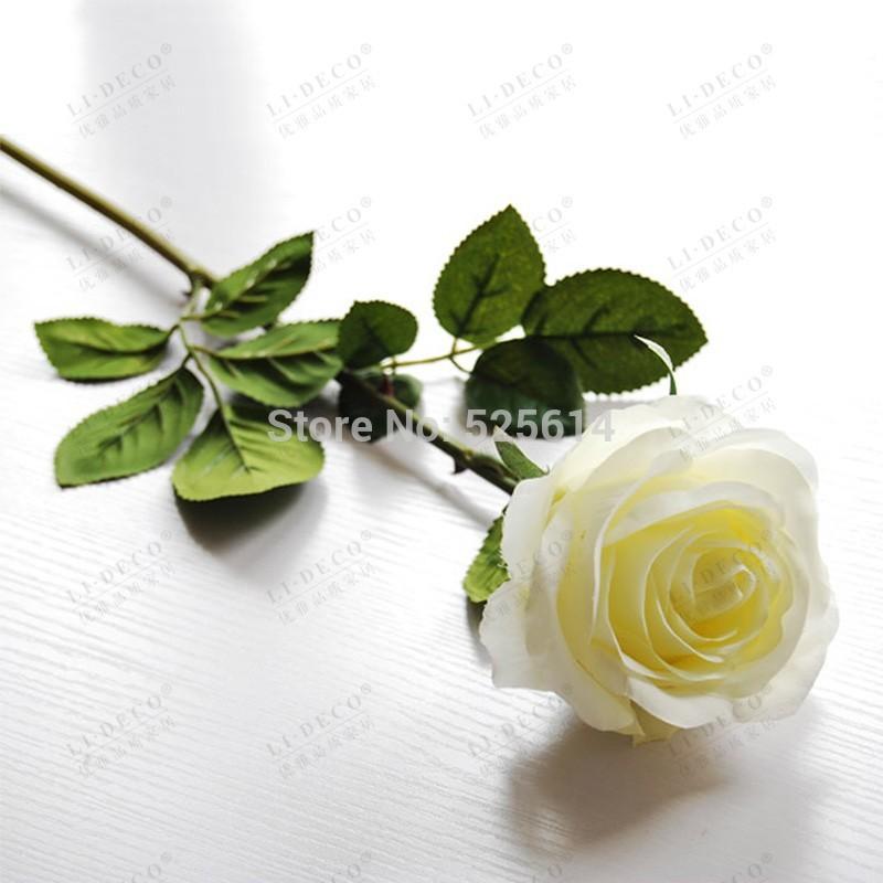 Faux roses blanches achetez des lots petit prix faux - Simulation decoration interieure ...
