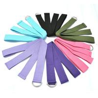 New Yoga Stretch Strap D-Ring Waist Leg Fitness 180CM Adjustable Belts Free shippng & wholesale 10pcs/set