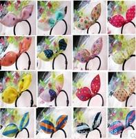 Fashion women Fabric rubber band hair accessory Cute rabbit ears headband hair rope 8068al