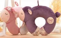 Metoo 1pc 38cm cartoon Myrtle lucky sheep lovely plush rest pacify U neck pillow cushion stuffed toy children women gift