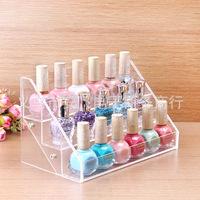 18 bottles of nail polish frame, contact lens medicine bottle display, goods display shelf