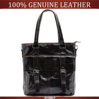 Hot 2015 genuine leather bags women leather handbags oil wax leather vintage cowhide shoulder bags cross body bolsas