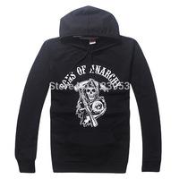 2015 New Sons of Anarchy SOA Grim Reaper Samcro Motorcycle Club Zip Up Hoodie Jacket Sweatshirt Jacket Adult Mens DA618
