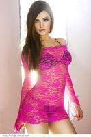 women Summer Pink Green Free Size Full Sleeve Slash Neck Fluorescent Lace secy women fashion Smock