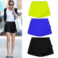 2015 new 3 colors summer pleated pants shorts short skirt plus size S/M/L/XL