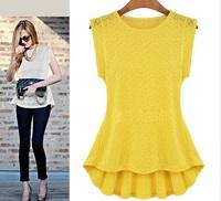 2015 new summer women blouses shirts sleeveless ladies lace blouse clearance plus size transparent blusas femininas vintage tops