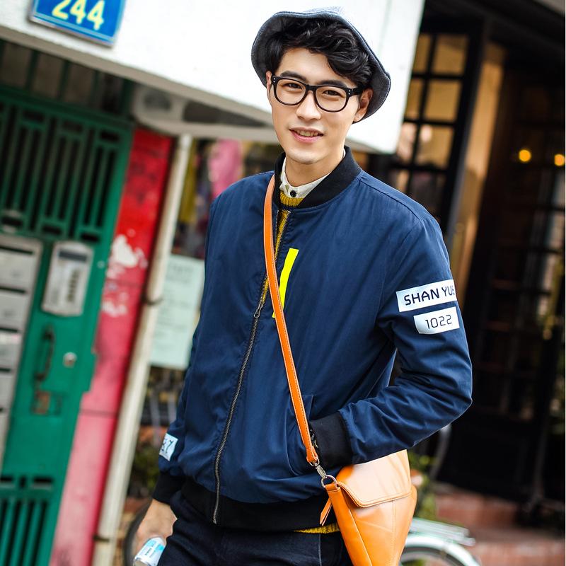 Fall/winter men's padded Quilted Jacket slim fit baseball collar jacket(China (Mainland))