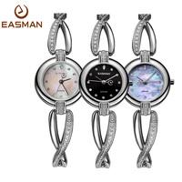 EASMAN Watch Women New Luxury Brand Diamond Clock Bracelet Natural Seashell Women Quartz Watch Sapphire Fashion WristWatch Watch