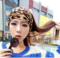 European and American popular retro fashion wild leopard accessories hair band hair bands Korean  wide elastic headband
