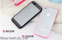 Double colors  transparent Matte TPU Case For iphone 6 4.7 inch Free Shipping