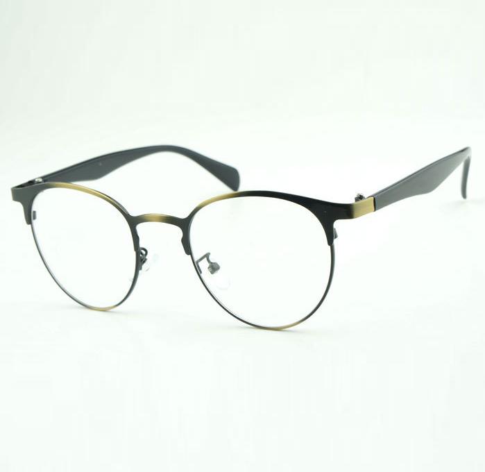 Large Frame Computer Glasses : NEW-preppy-style-retro-Optical-frames-men-big-frame-Oval ...