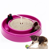 Multifunction Cat toy Cat swivel plate toy,corrugated cat Catch plate, cat toy