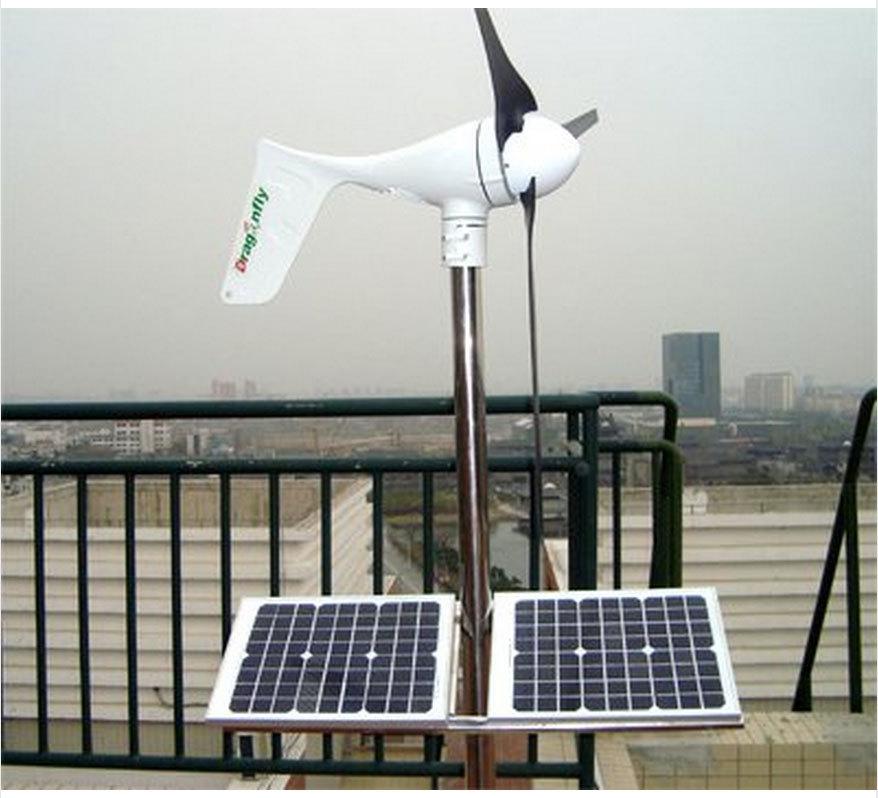 500W wind solar hybrid power system ,400W wind turbine+100W solar pannel+charge controller+500/1000W pure sine wave inverter(China (Mainland))